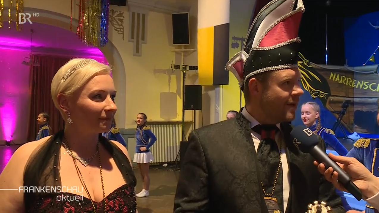 Das Hofer Prinzenpaar bei der Faschingskehraus-Sendung in der Hofer Bürgergesellschaft