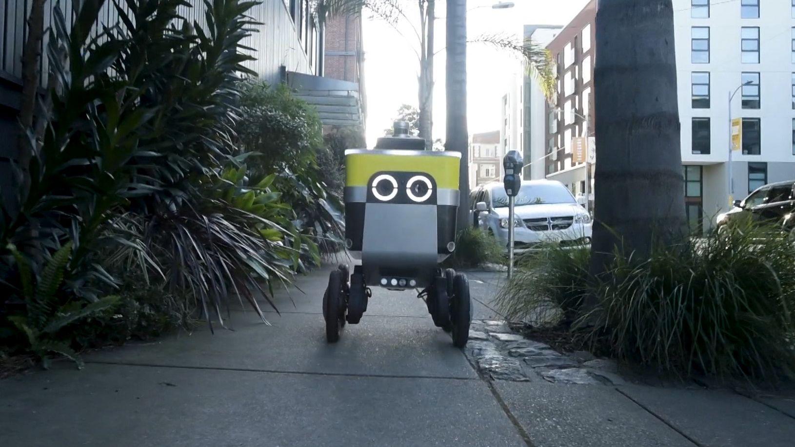 Roboterautos liefern Pizza nach Hause
