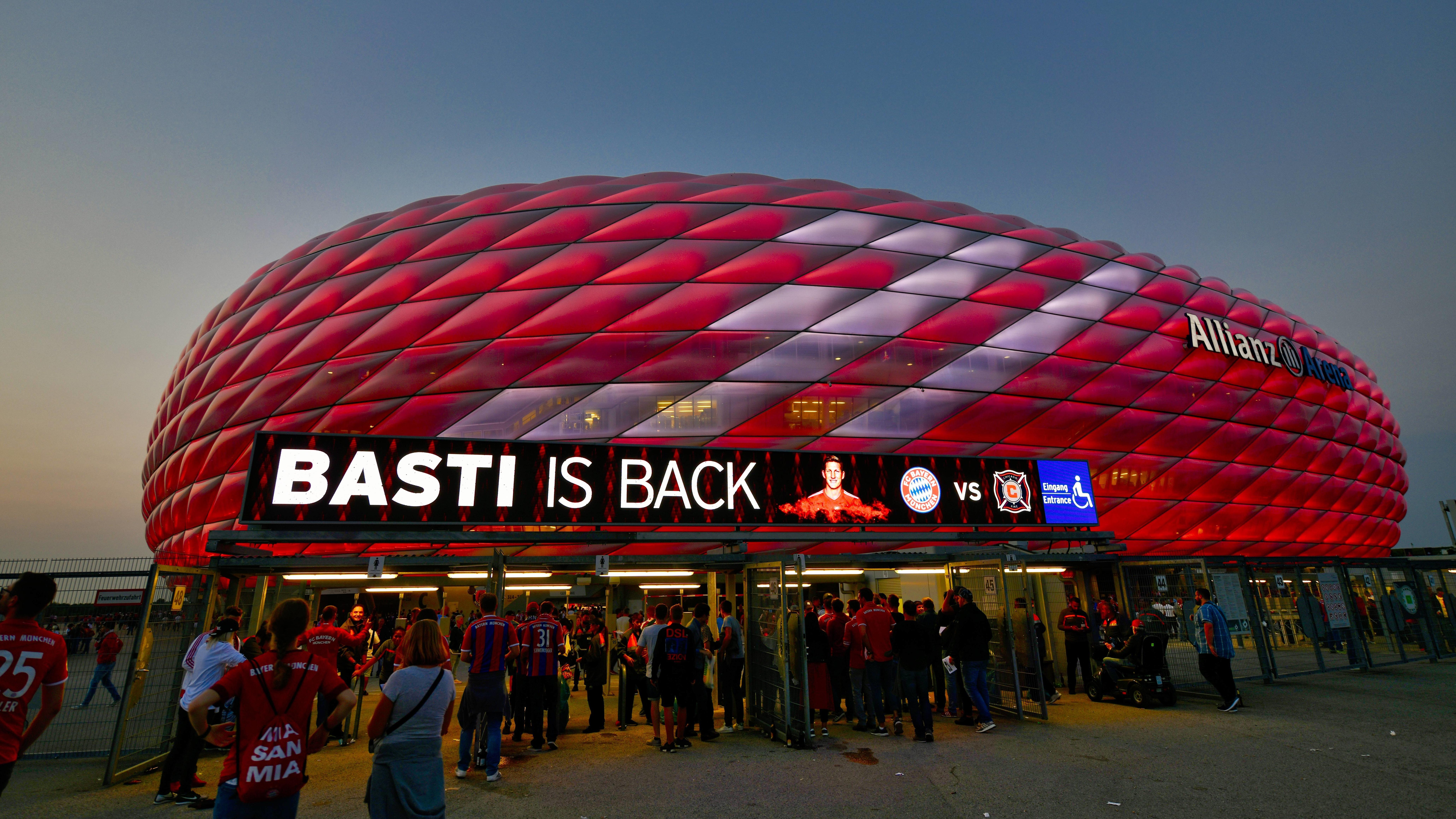 Die Allianz Arena vor dem Schweinsteiger-Abschiedsspiel