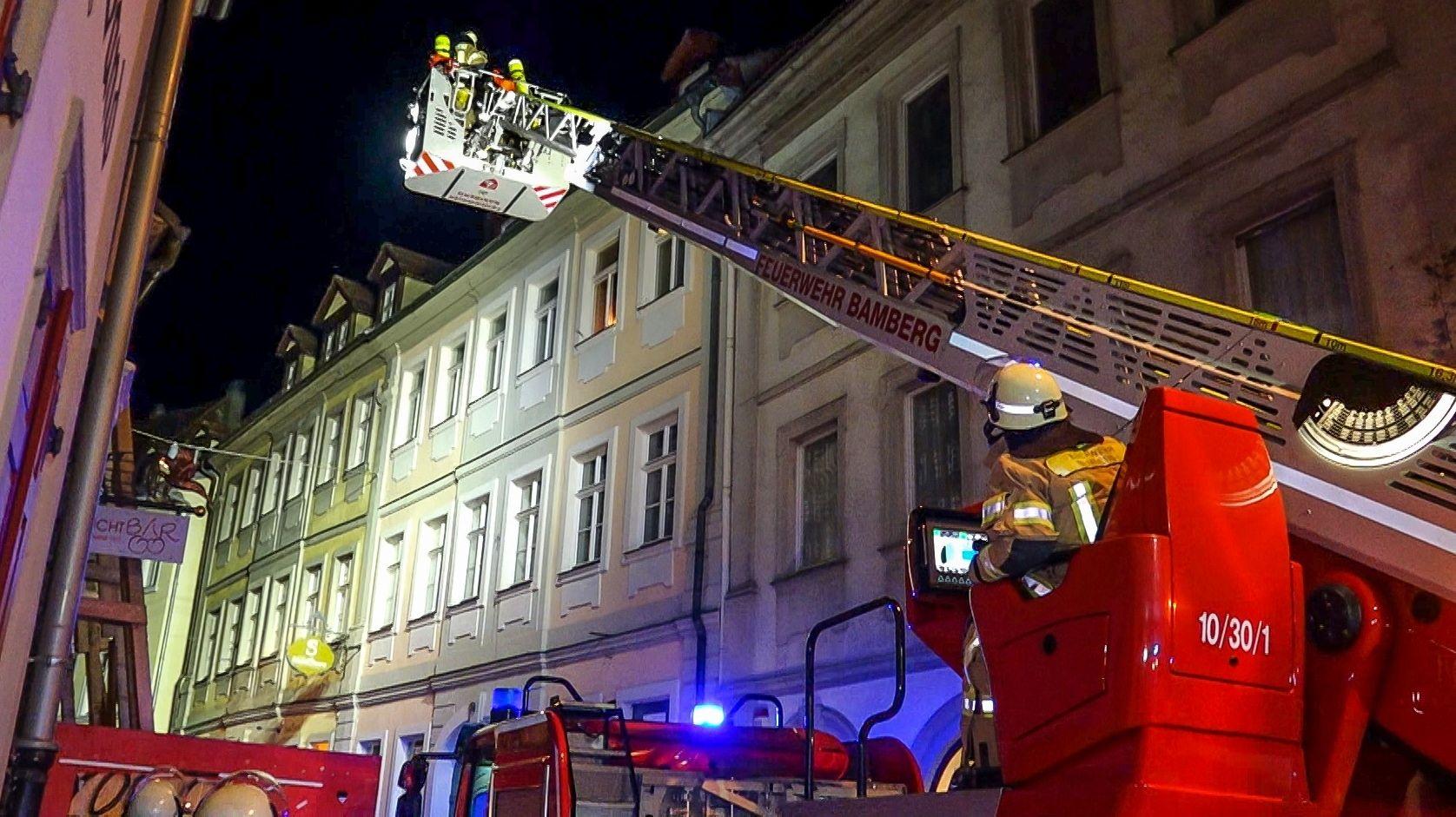 Feuerwehreinsatz in der Bamberger Sandstraße.