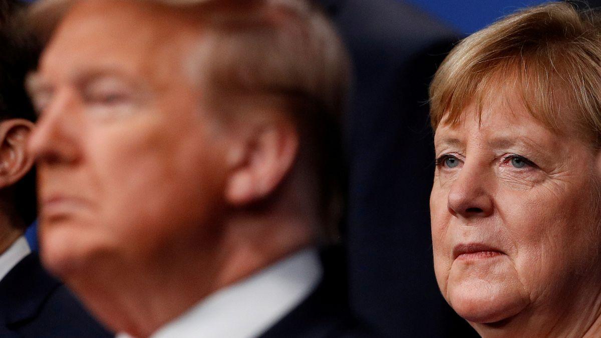 Bundeskanzlerin Angela Merkel und US-Präsident Donald Trump beim Nato-Gipfel im Dezember 2019