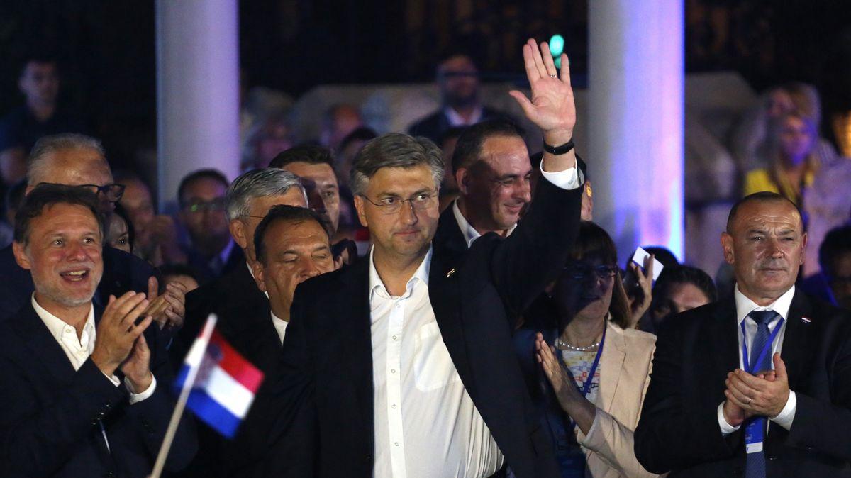 Der kroatische Regierungschef Andrej Plenkovic nach dem Sieg seiner Partei HDZ