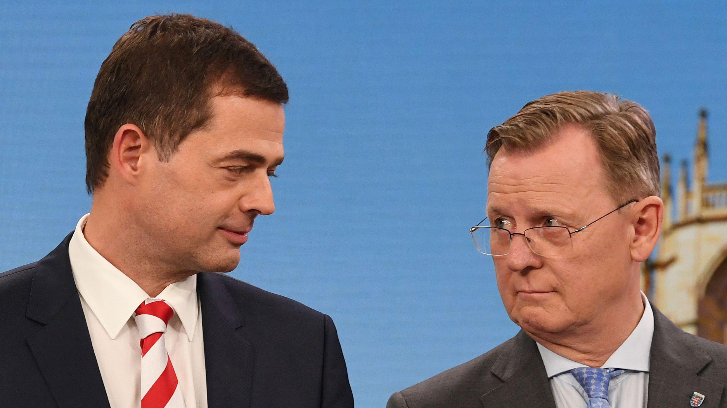 Mike Mohring (CDU) und Bodo Ramelow (Linke)