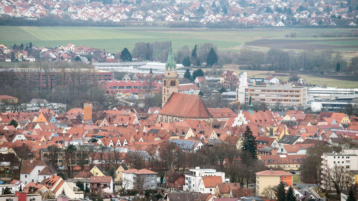 Panoramaaufnahme der Kreisstadt Neumarkt in der Oberpfalz