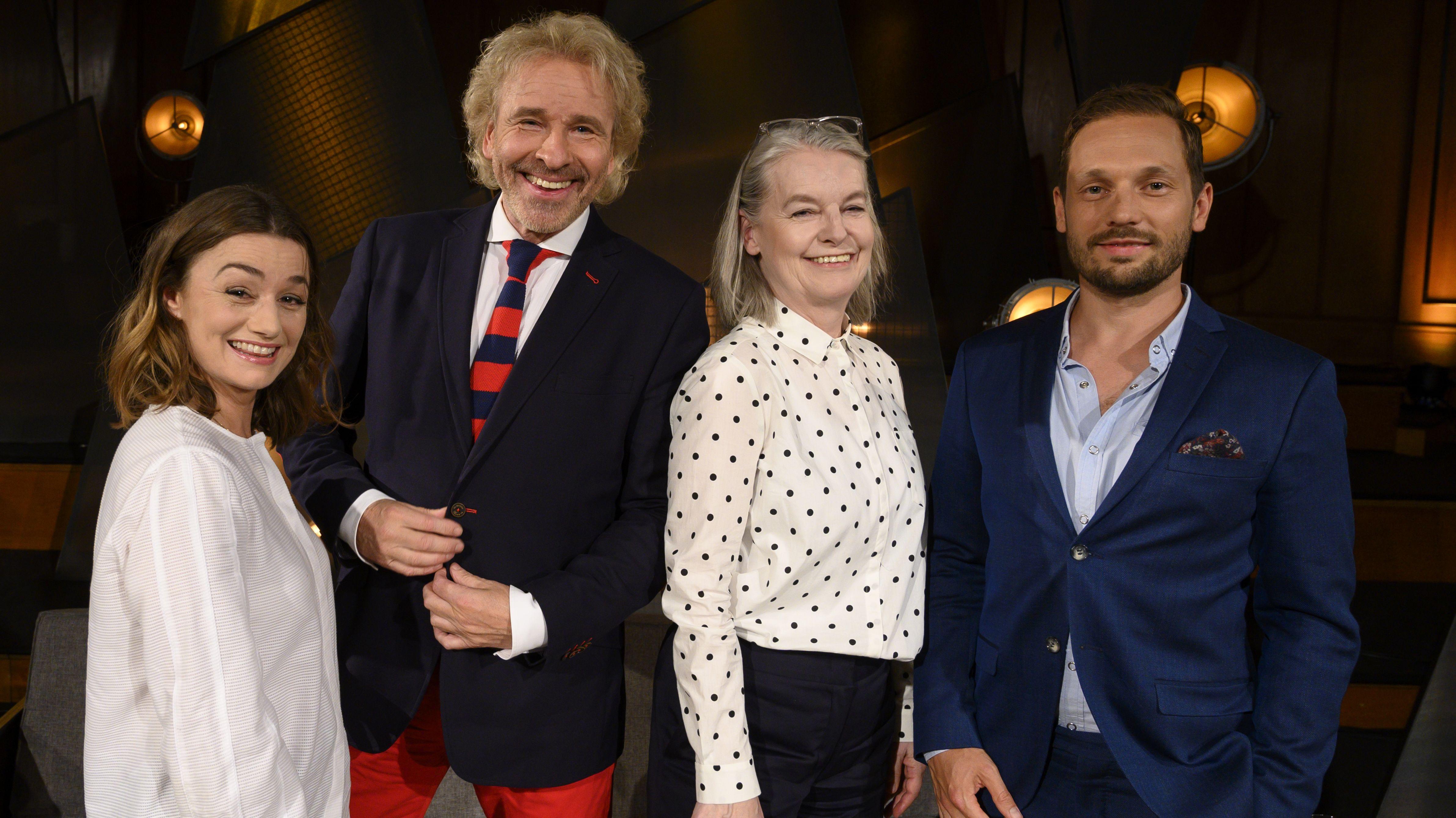 Die Gäste der Büchersendung mit Thomas Gottschalk: Johanna Ardorján, Marlene Streeruwitz und Friedemann Karig