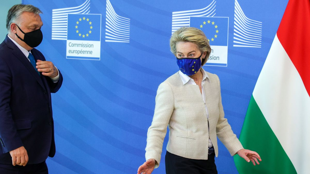 EU-Kommissionschefin Ursula von der Leyen und der ungarische Präsident Viktor Orban.