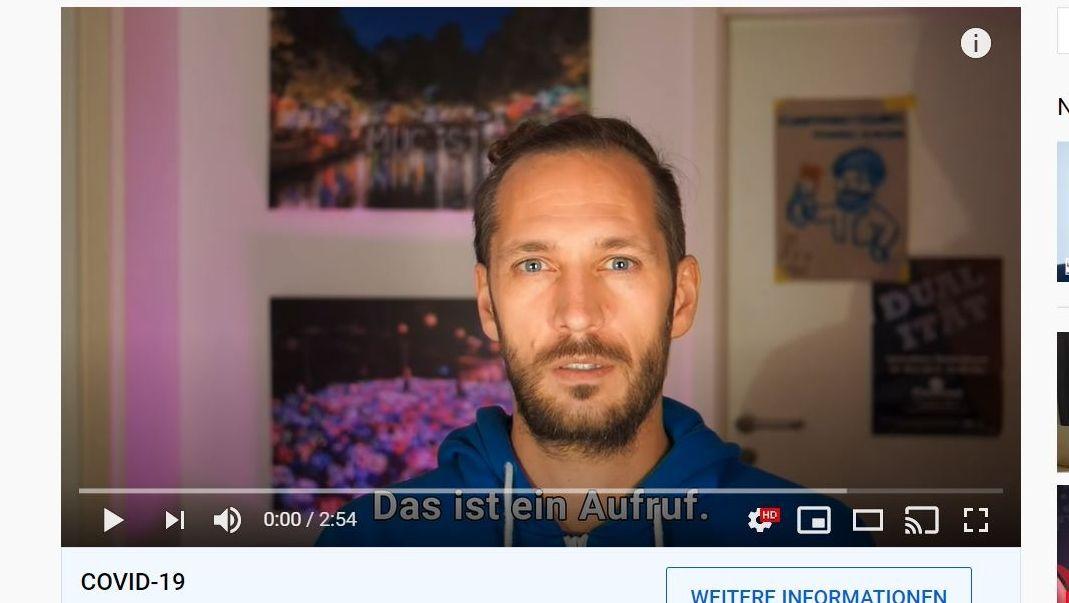 Initiator Ulrich Tausend im Kampagnenvideo zu #wellenbrecher