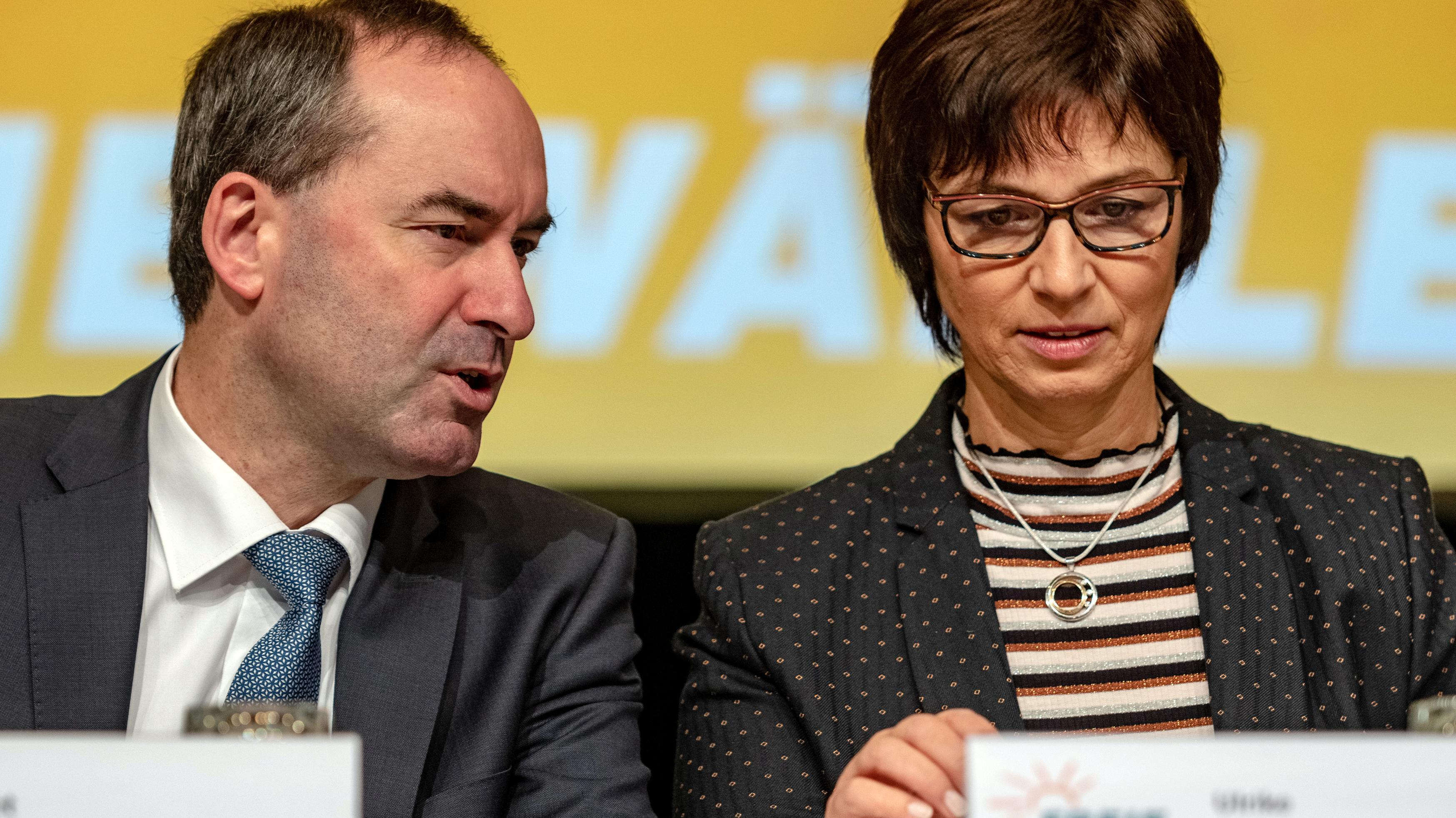Hubert Aiwanger und Ulrike Müller
