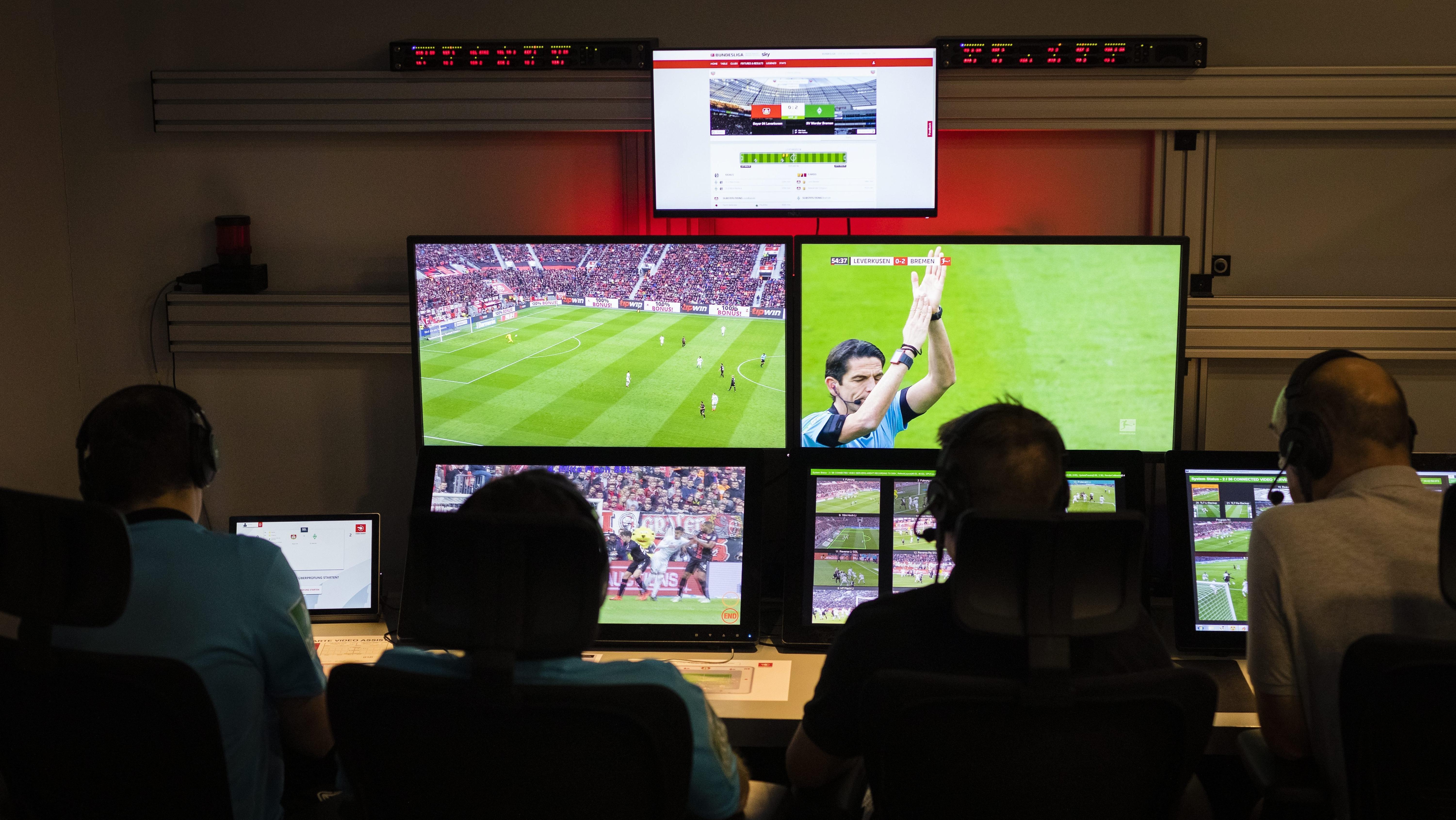 Der Arbeitsplatz der Videoschiedsrichter