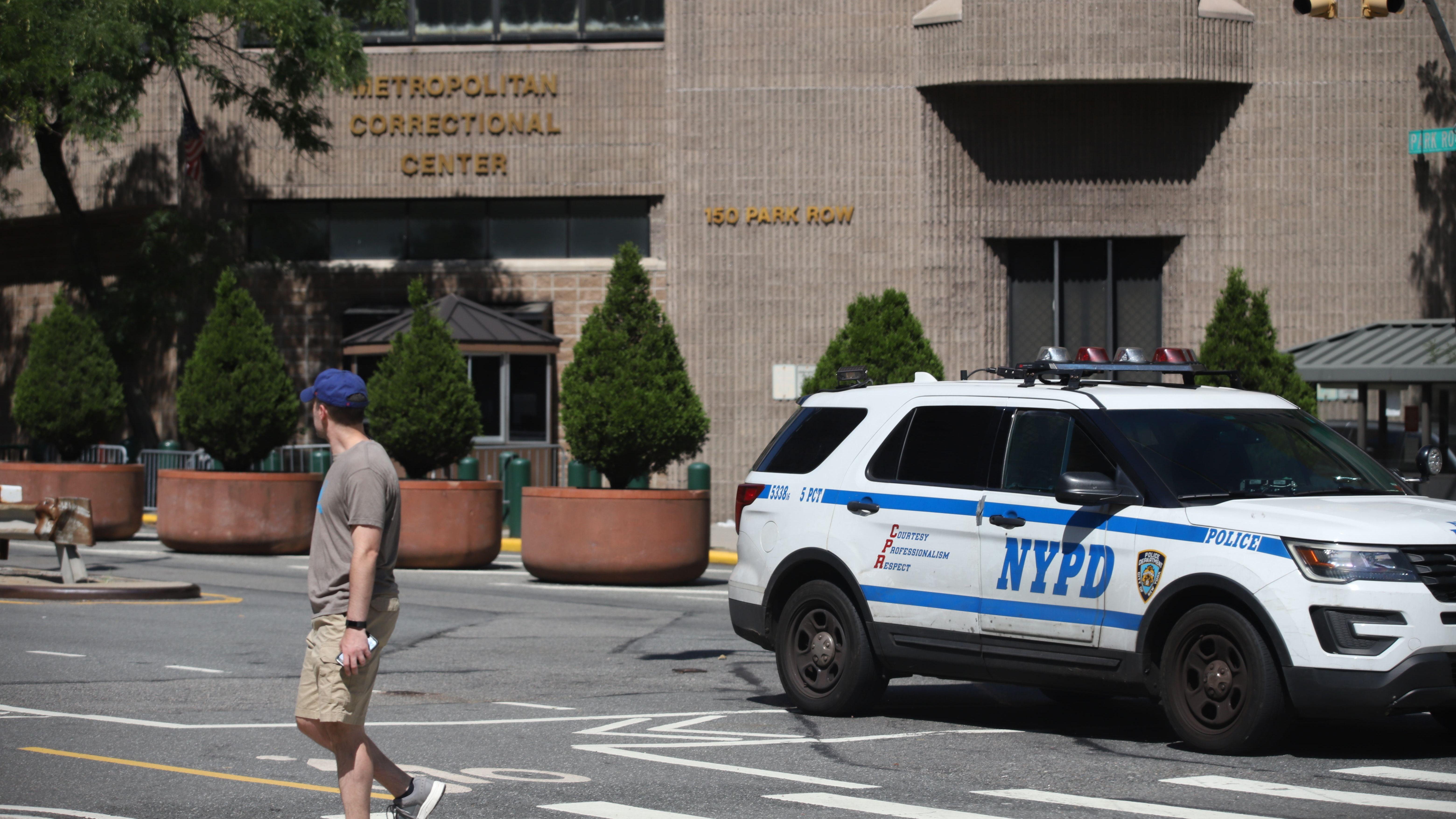 """New York, Bundesgefängnis """"Metropolitan Correctional Center"""", in dem Jeffrey Epstein tot aufgefunden wurde"""
