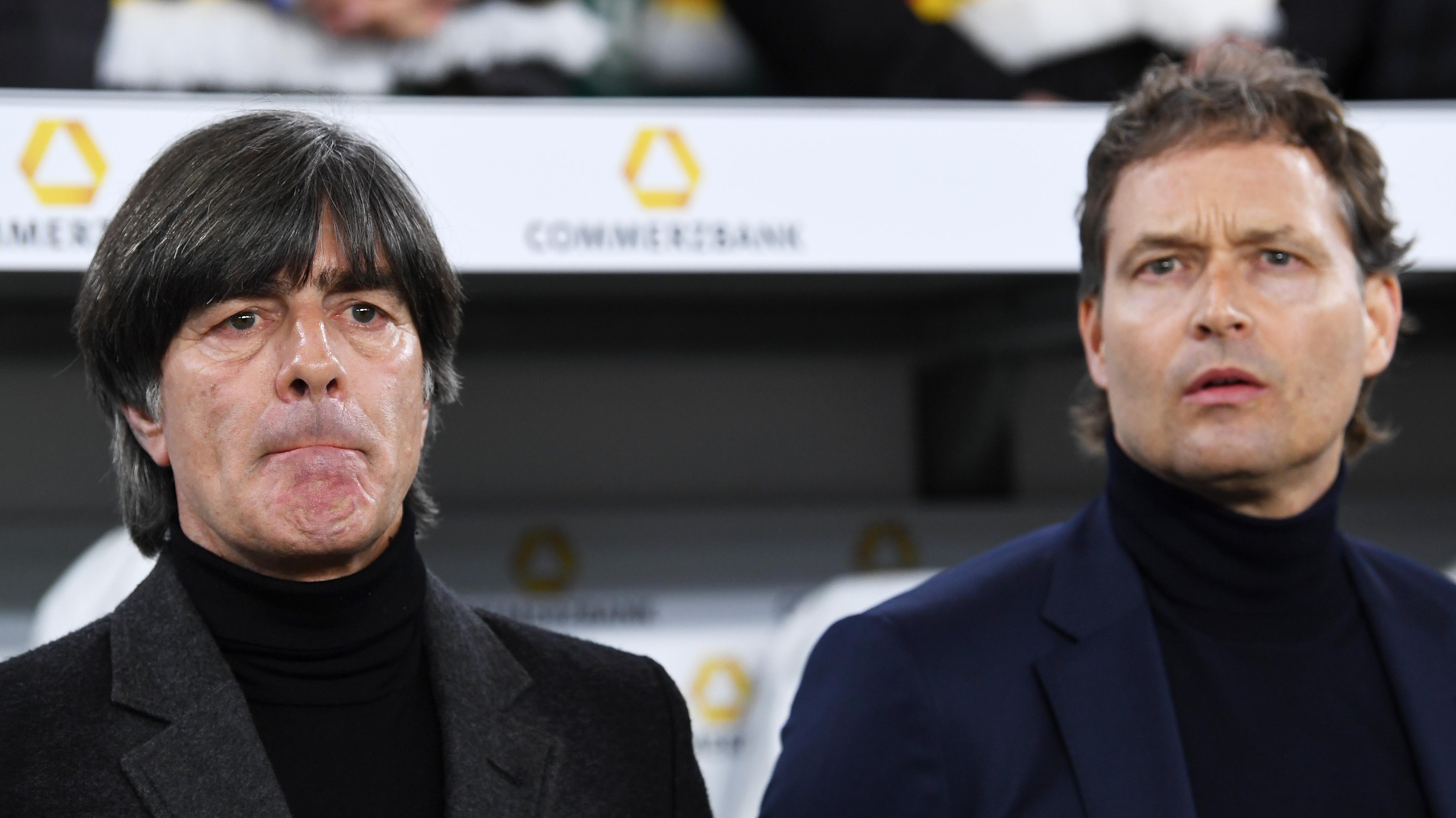 Bundestrainer Joachim Löw und sein Assistent Marcus Sorg