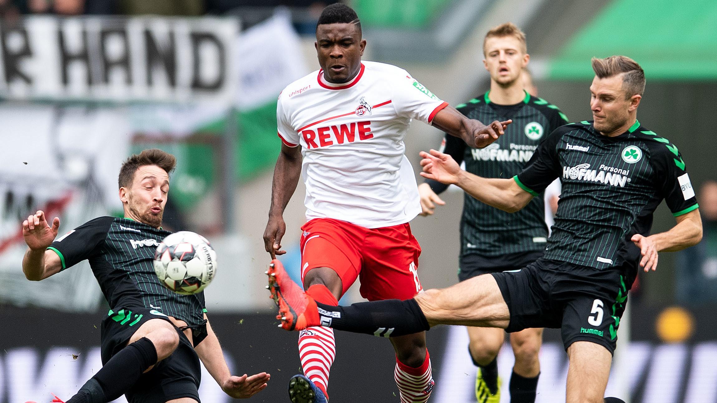 Spielszene 1. FC Köln gegen SpVgg Greuther Fürth