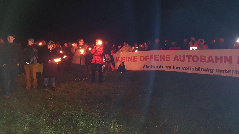 Kundgebung  gegen Lärmbelastung durch die A94 am Donnerstagabend in Dorfen