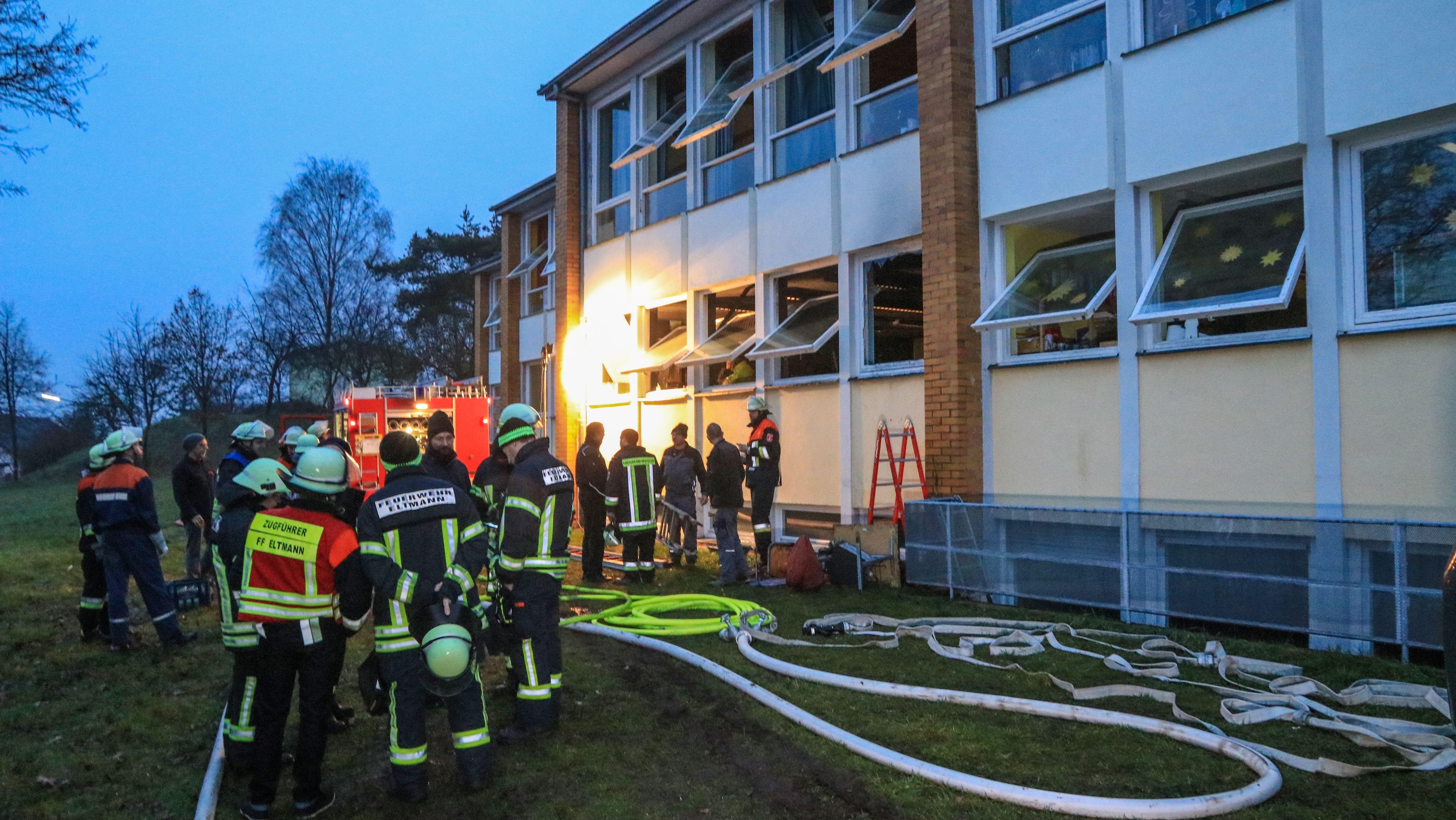 Brand in einer Schule der Lebenshilfe in Stettfeld