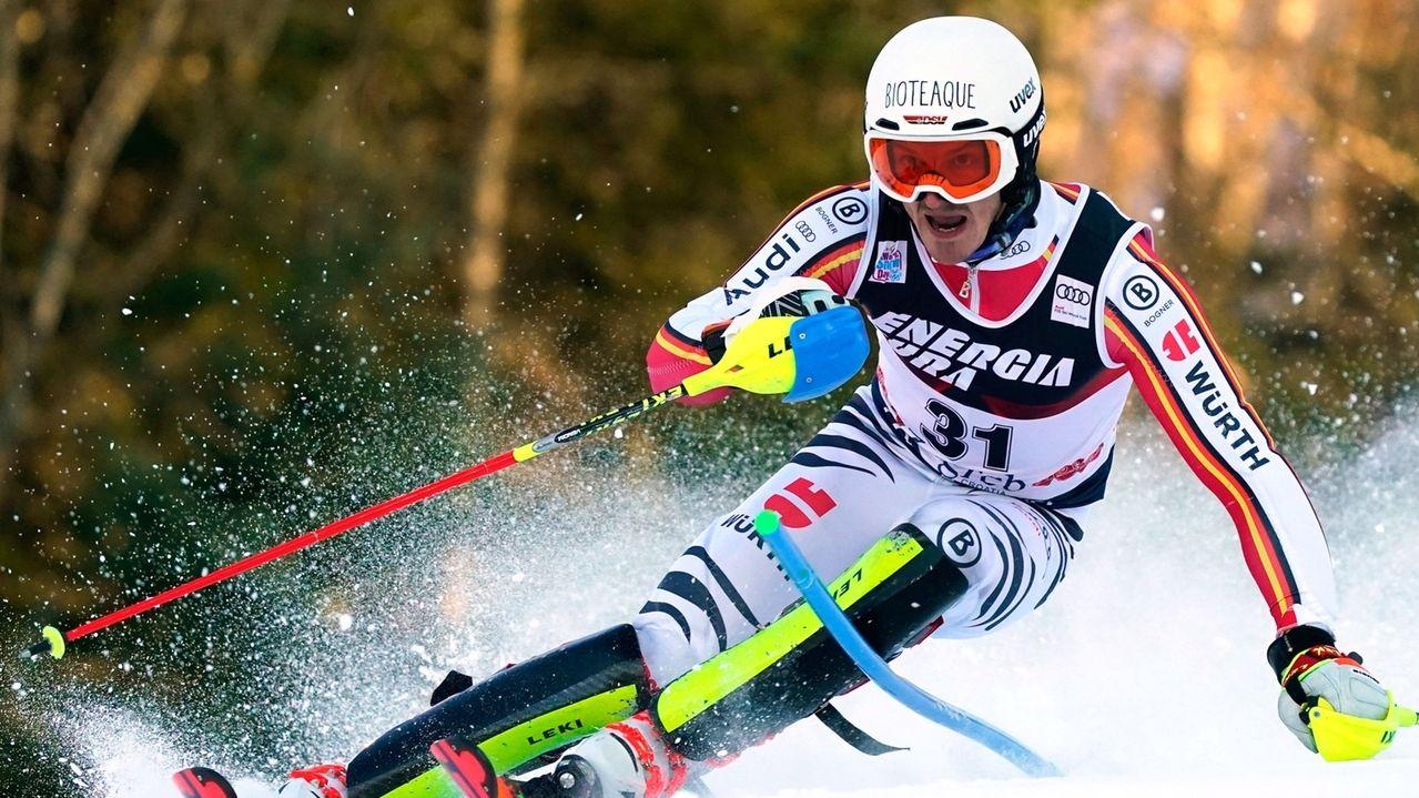 Linus Straßer beim Slalom in Zagreb