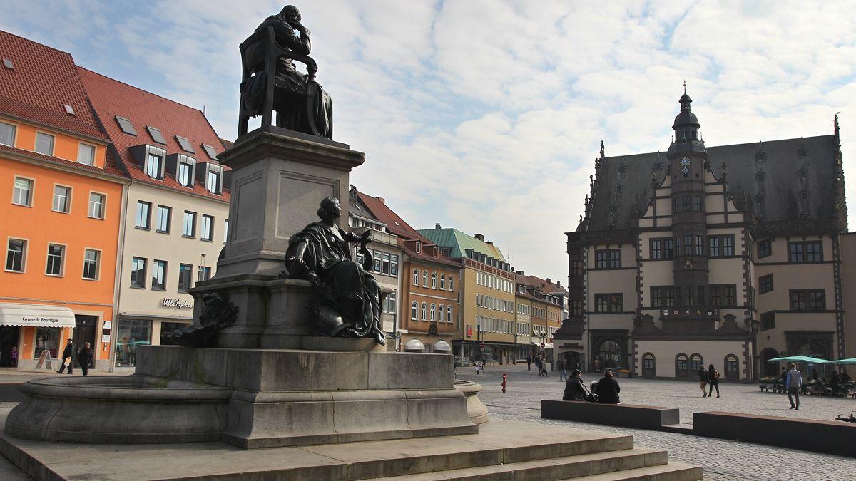 Der Marktplatz von Schweinfurt