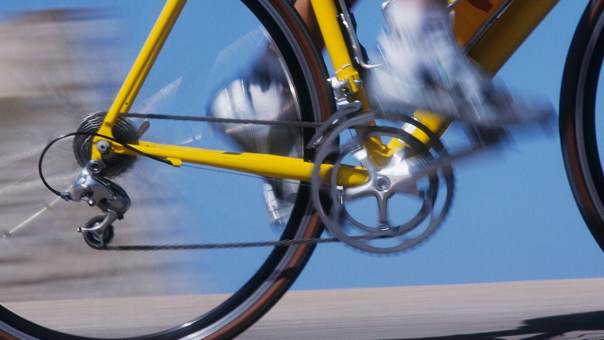 Beine eines Rennradfahrers