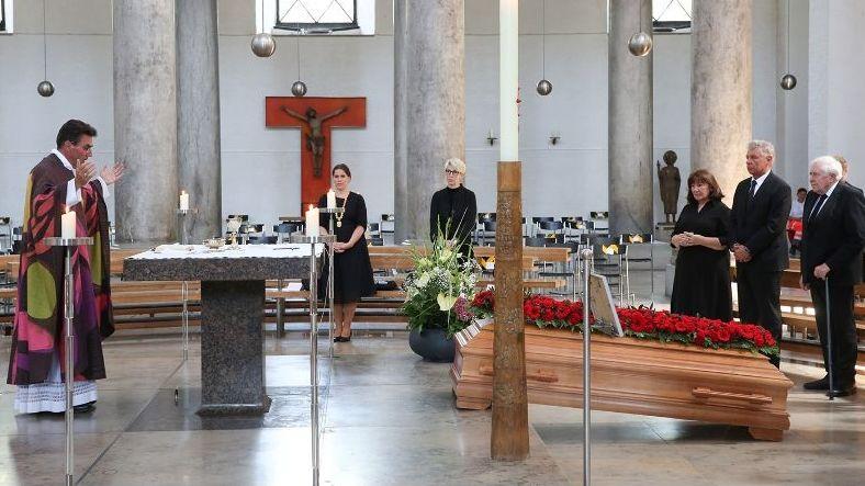 Trauerfeier Hans-Jochen Vogel am 31.07.2020 in München.