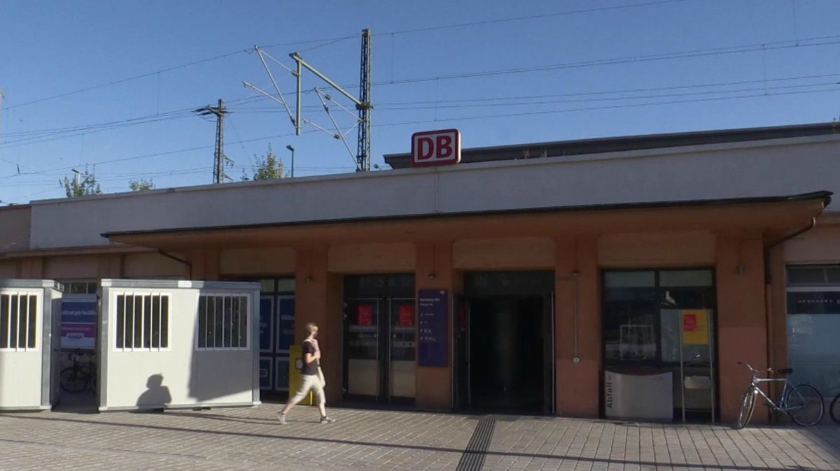 Das Corona-Testzentrum am Südausgang des Nürnberger Hauptbahnhofs