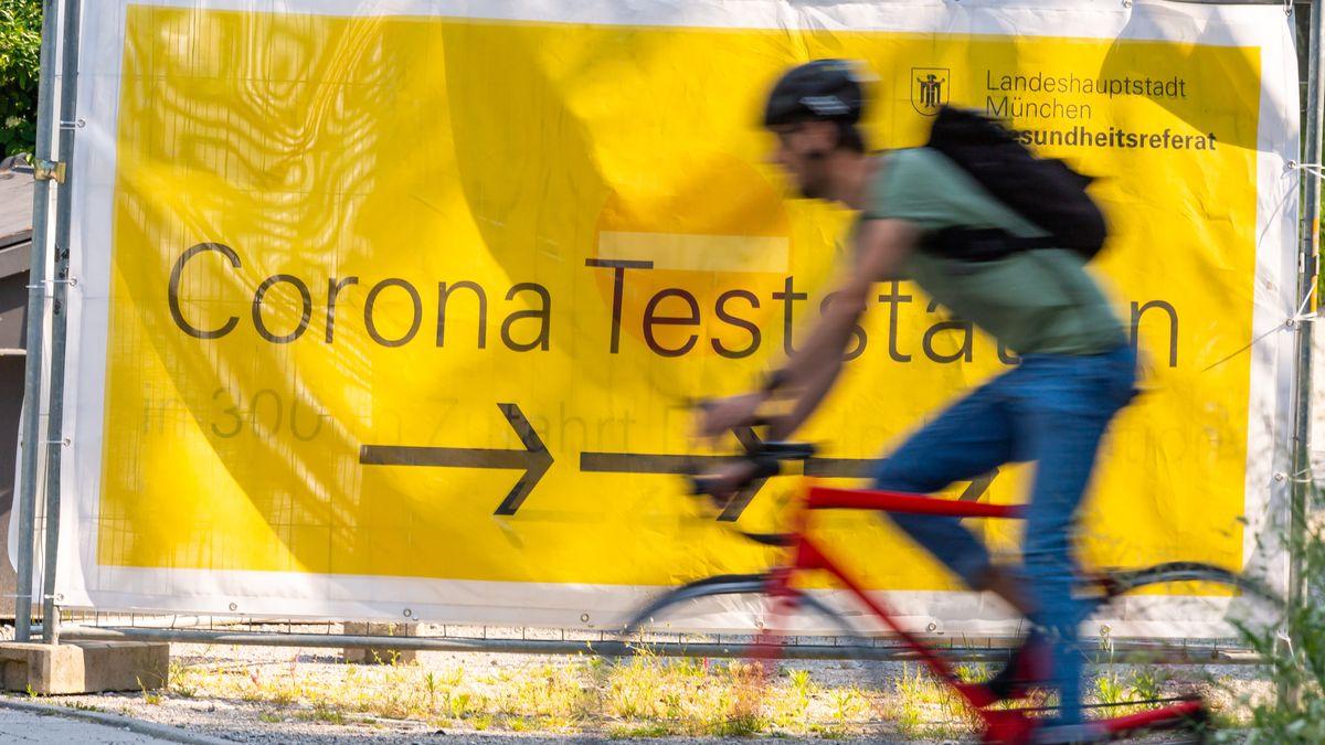 Corona-Teststation in München