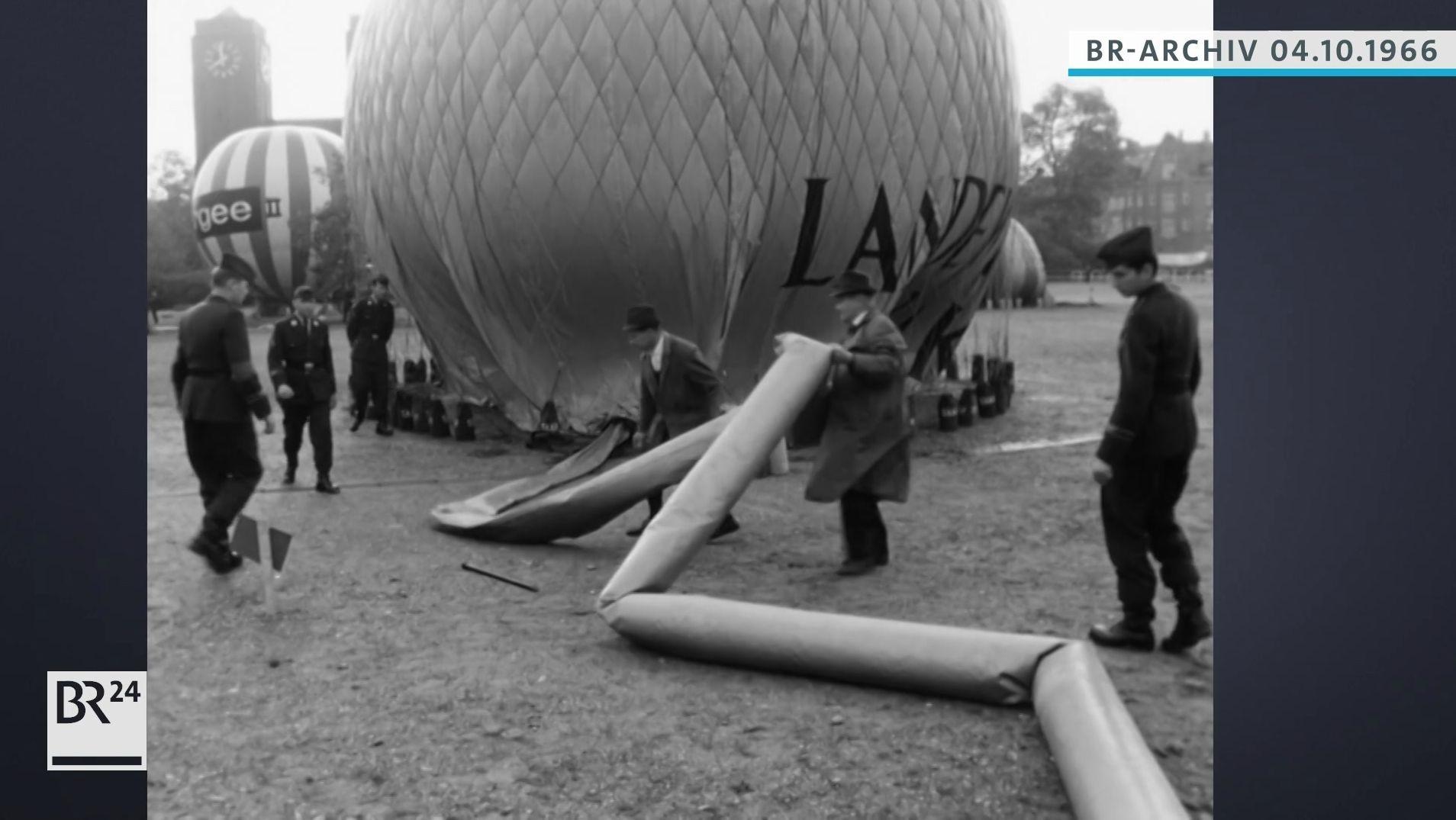 Vorbereitung der Heißluftballone