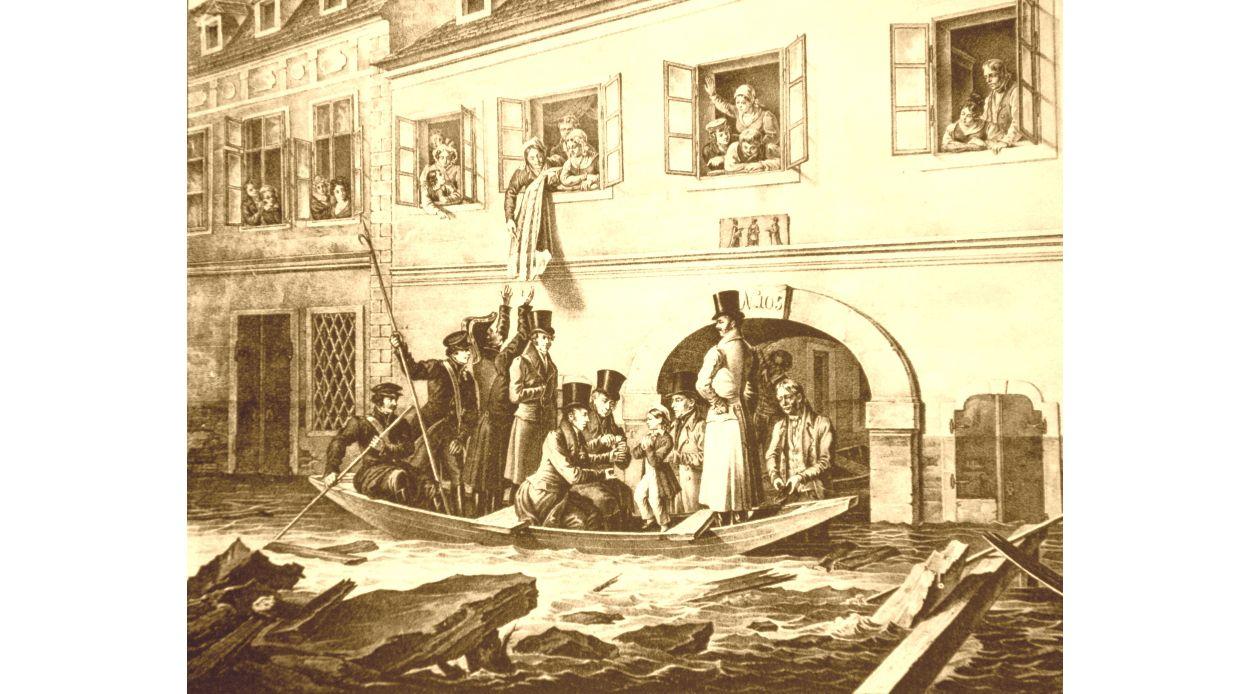 Überschwemmung in Wien 1830