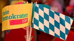 FDP-Fähnchen am Wahlsonntag. | Bild:pa/dpa/T. Hase