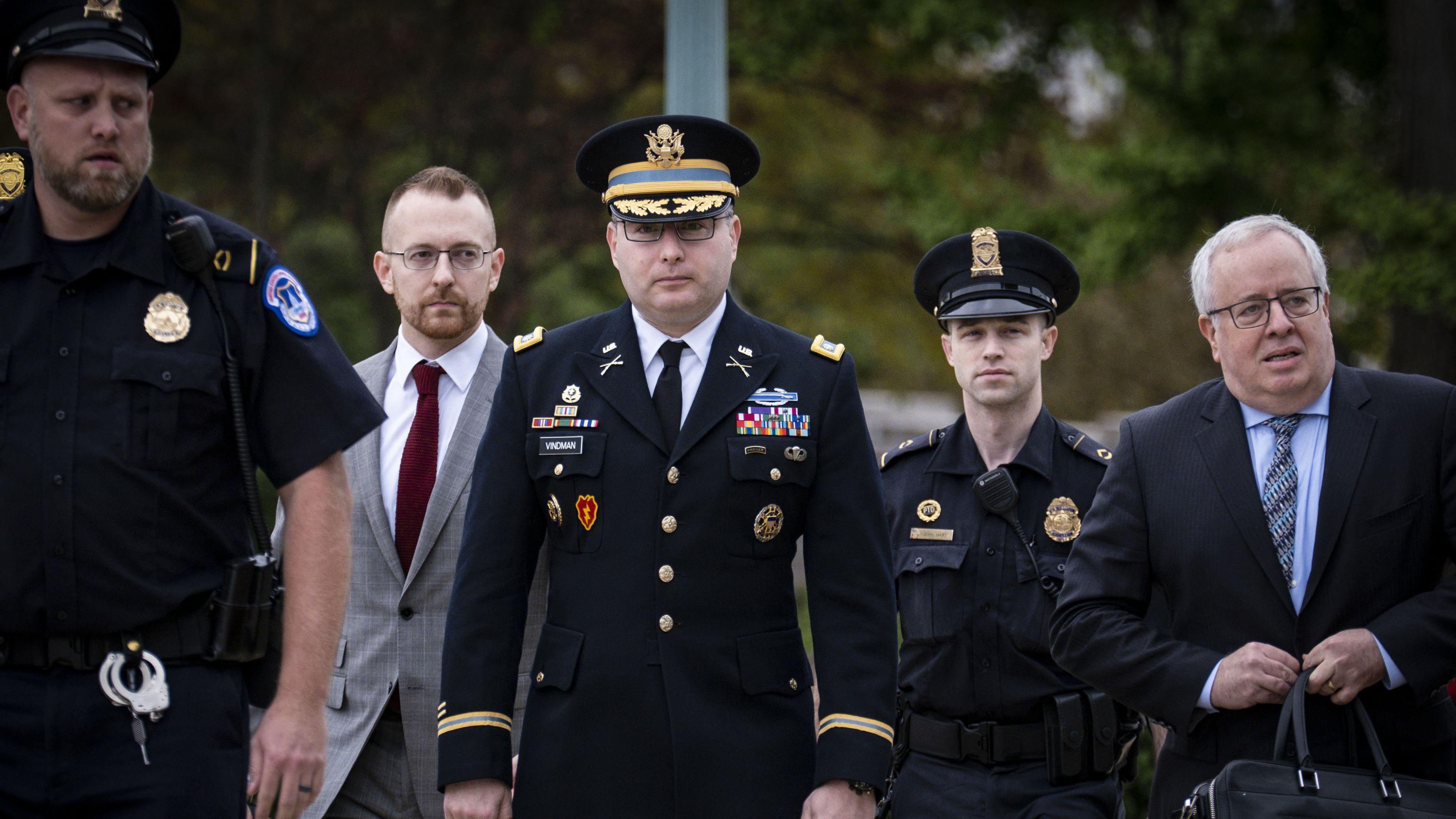 Oberstleutnant Alexander Vindman auf dem Weg zu einem Treffen in Washington