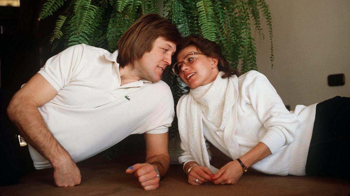 Erich Kühnhackl 1989 mit seiner Frau Sylvia