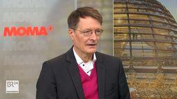 Karl Lauterbach im ARD-Morgenmagazin am 25. Oktober 2021   Bild:ARD-Morgenmagazin