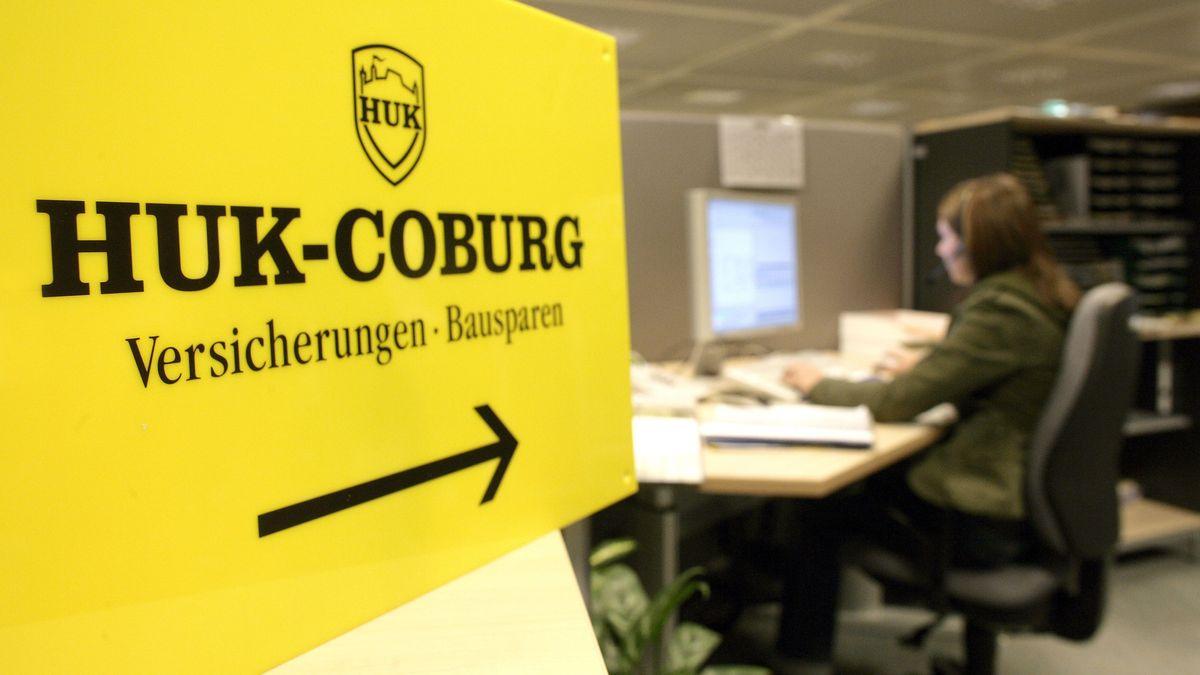 Blick in die Coburger Firmenzentrale des Versicherers HUK Coburg.