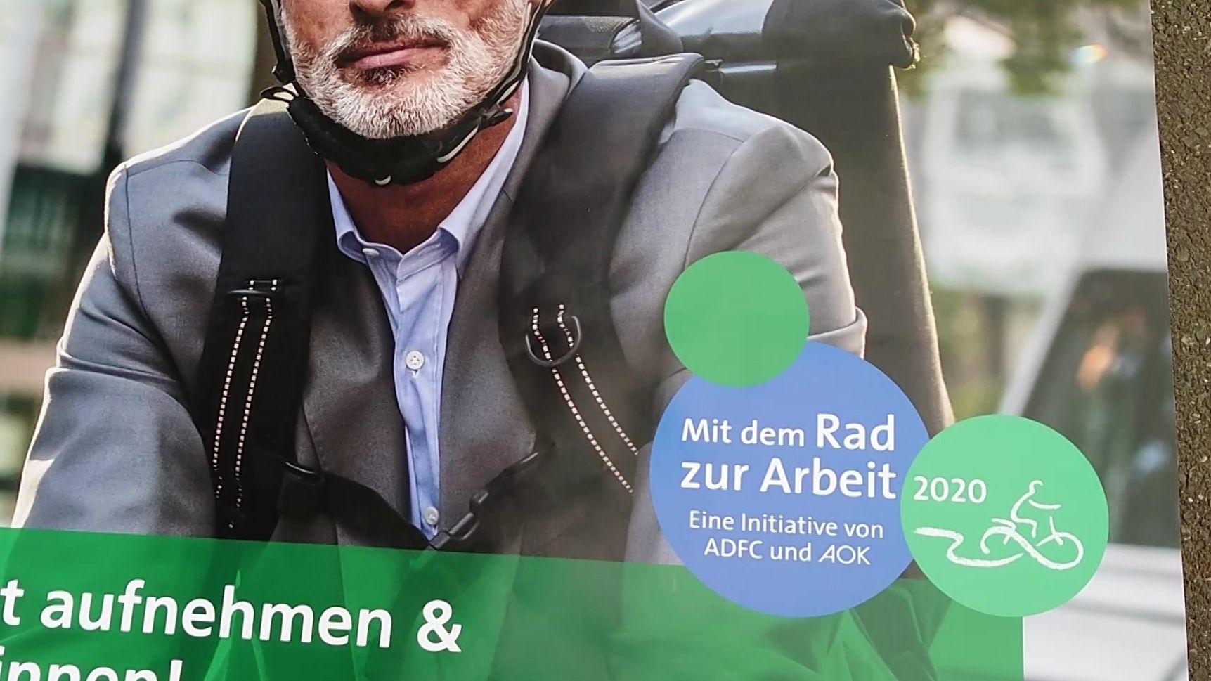 """Plakat-Ausschnitt der Aktion """"Mit dem Rad zur Arbeit"""""""