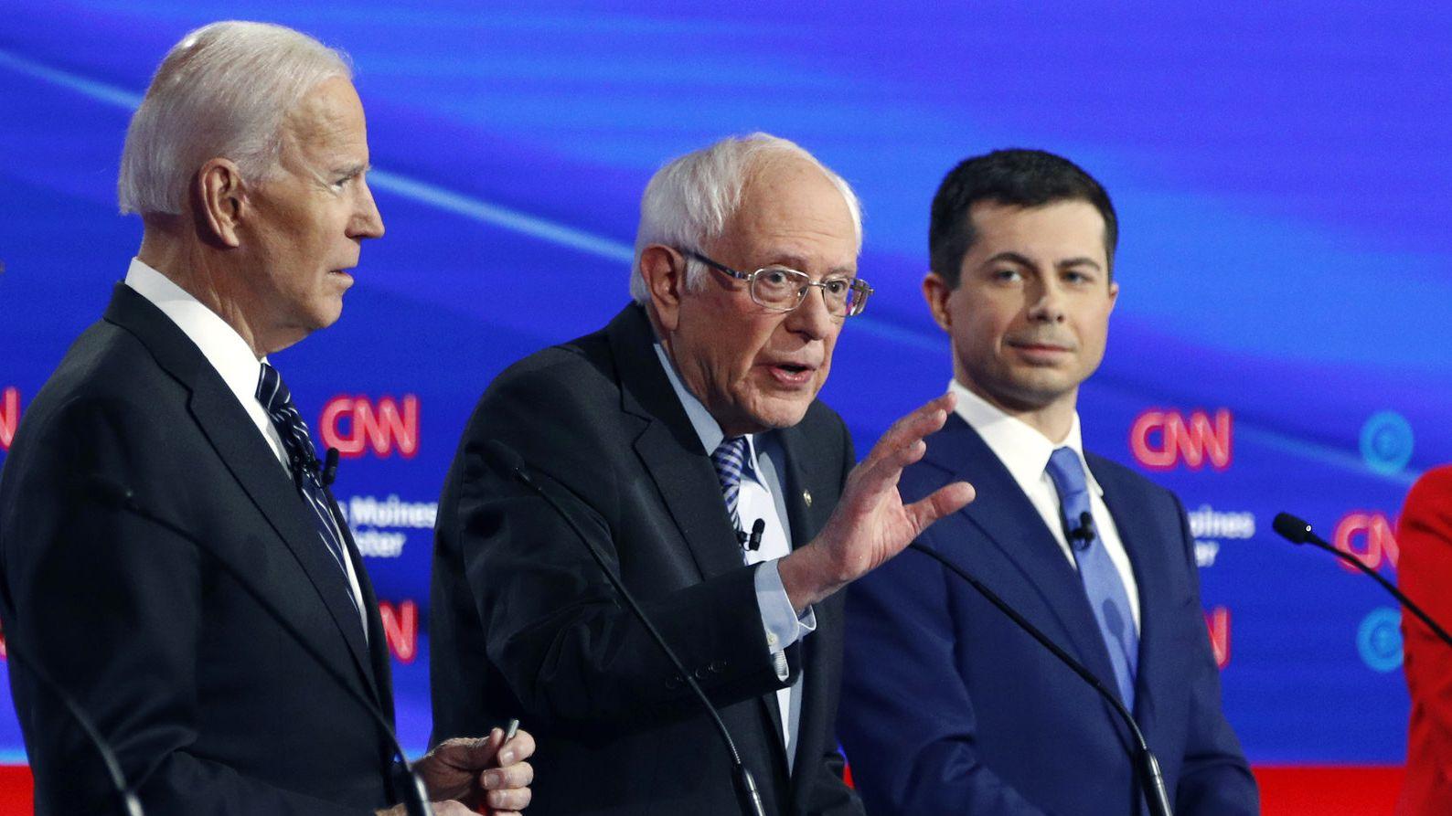 Biden, Sanders und Buttiegieg