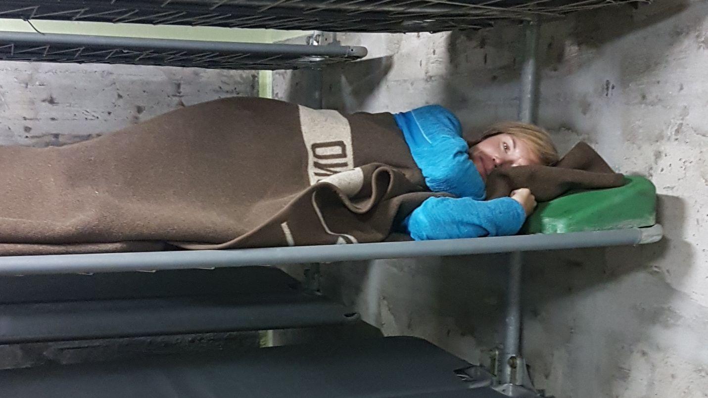 Nathalie Bachmann im Bunker in Mellrichstadt