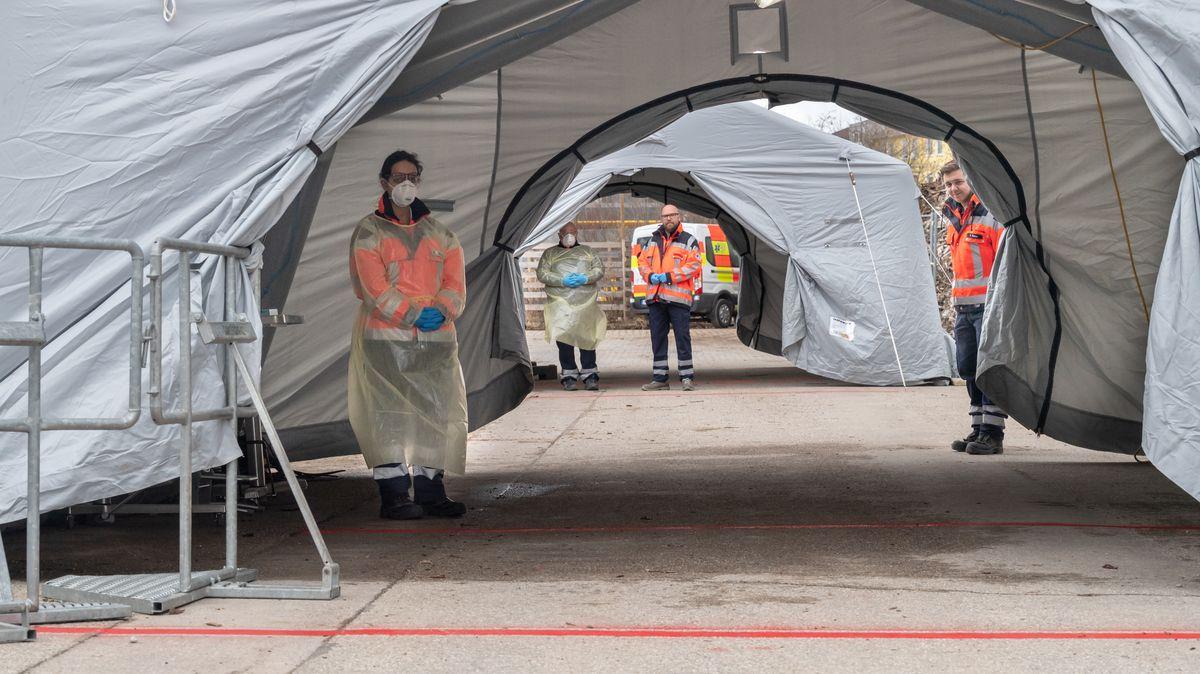 In München gibt es seit heute den ersten Drive-in für Coronavirus-Tests