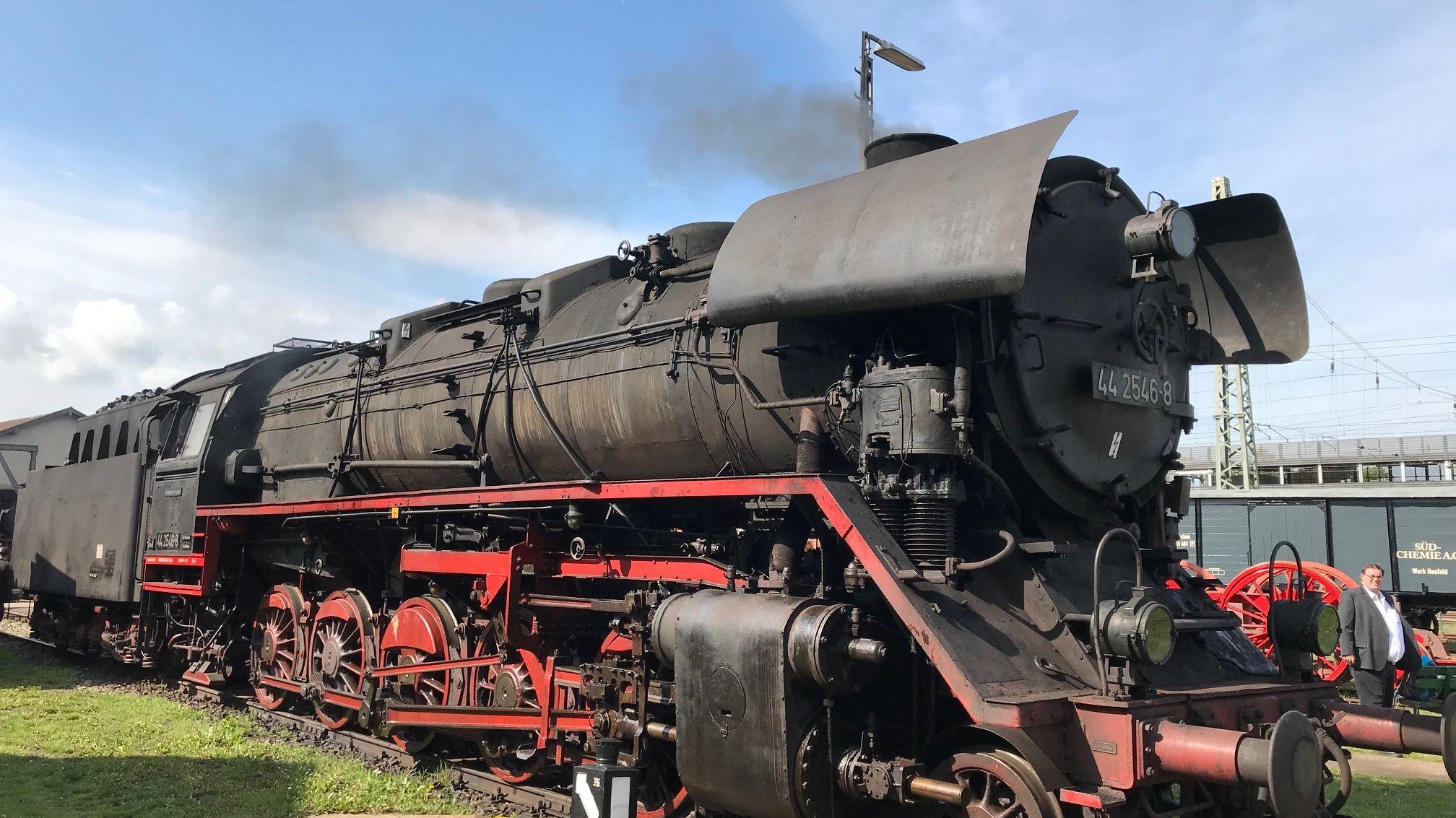 Dampflok im Bayerischen Eisenbahnmuseum