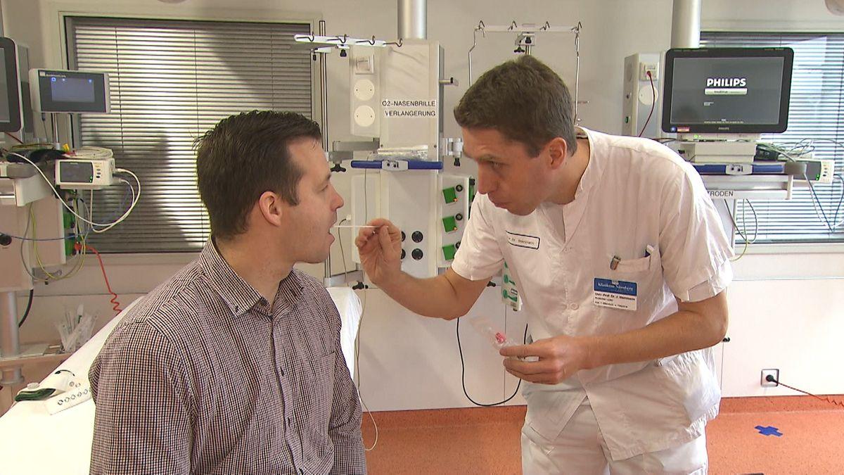 Patient und Arzt