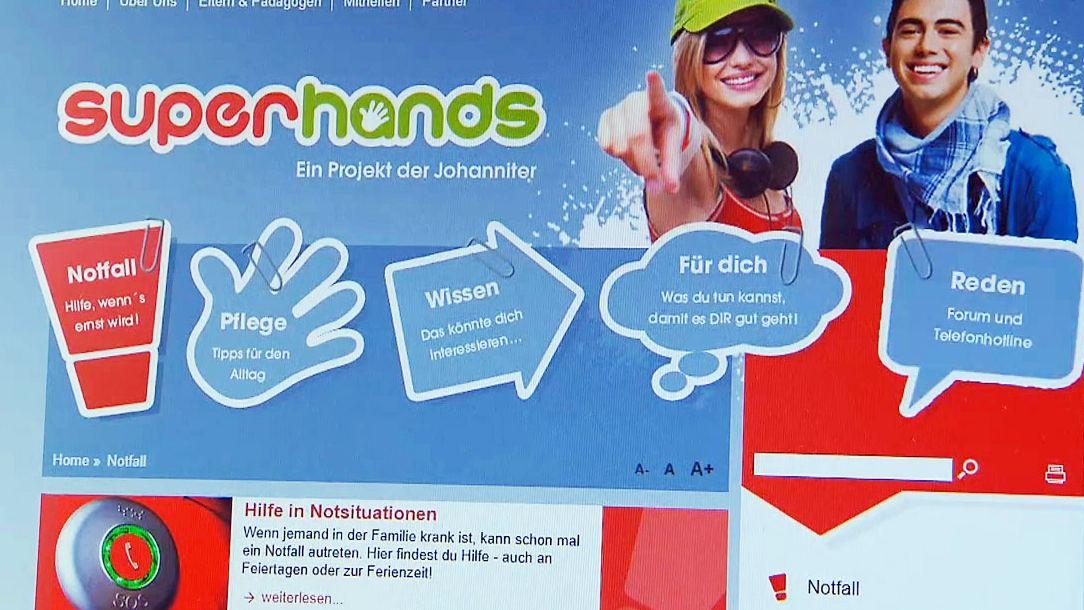"""Werbung für die """"Superhands""""-Initiative der Johanniter."""