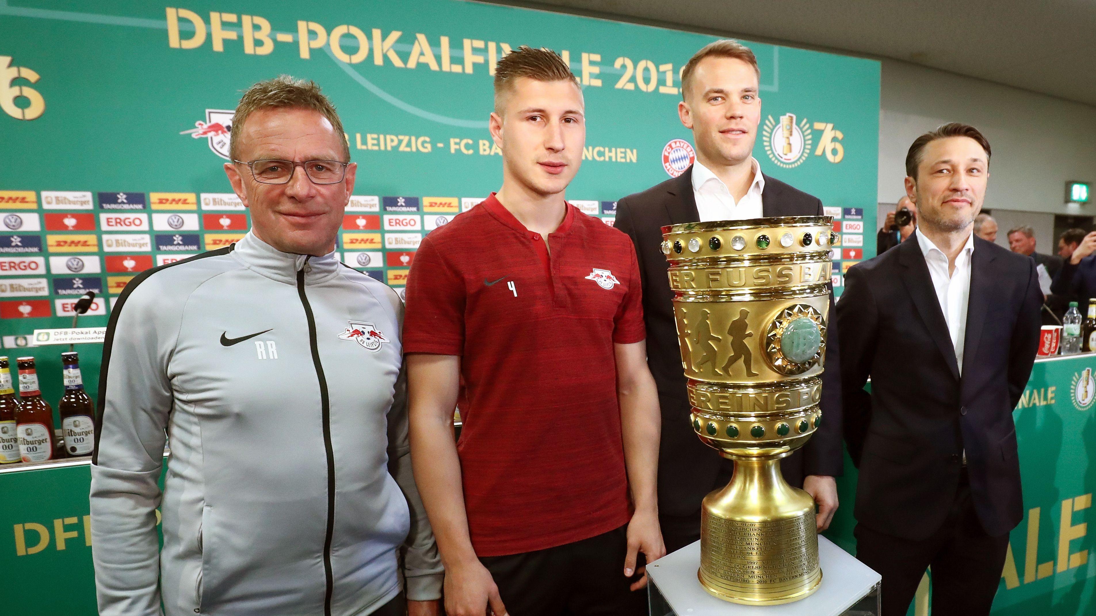 Ralf Rangnick, Willi Orban, Manuel Neuer und Niko Kovac