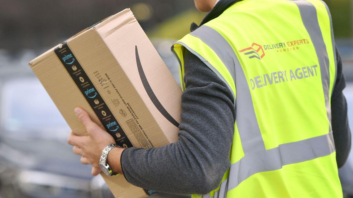 Ein Paketbote bei der Arbeit. (Symbolbild)