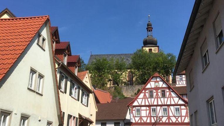 Die katholische Kirche St. Vitus in Karbach