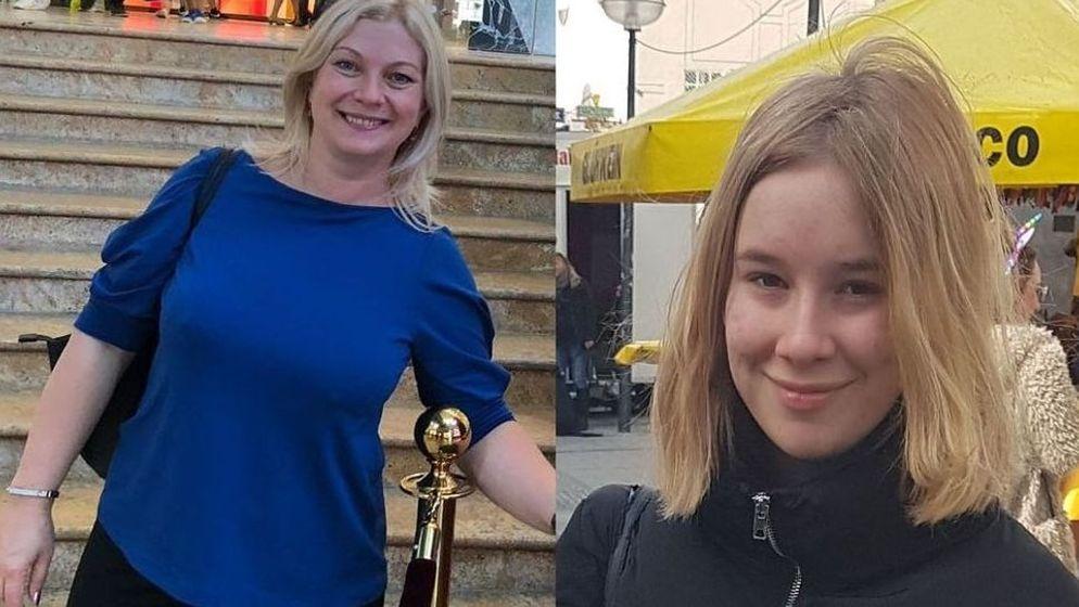 Vermisst: Maria Gertsuski und ihrer Tochter Tatiana | Bild:Polizei München