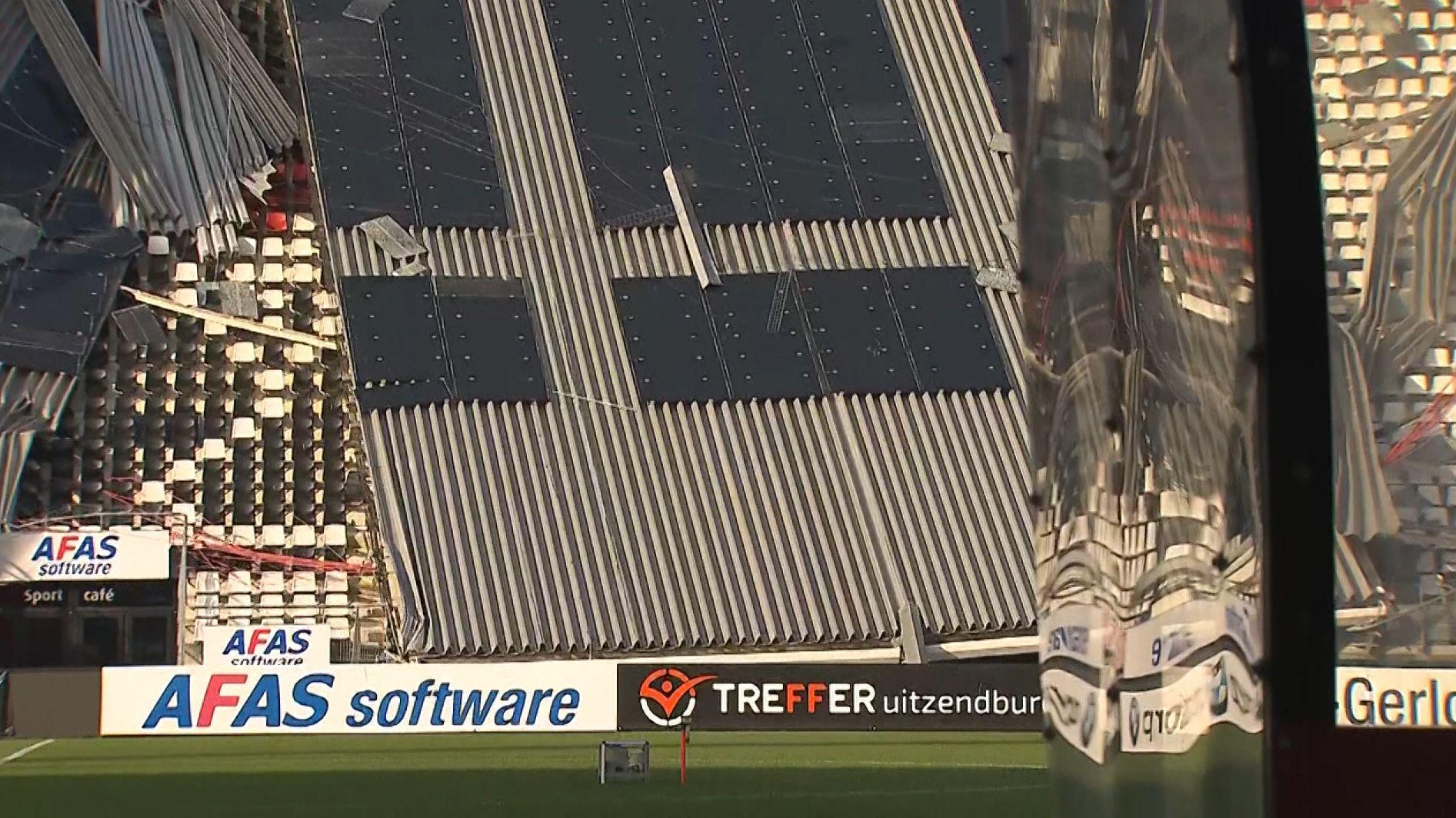 Stadiondach im niederländischen Alkmaar eingestürzt