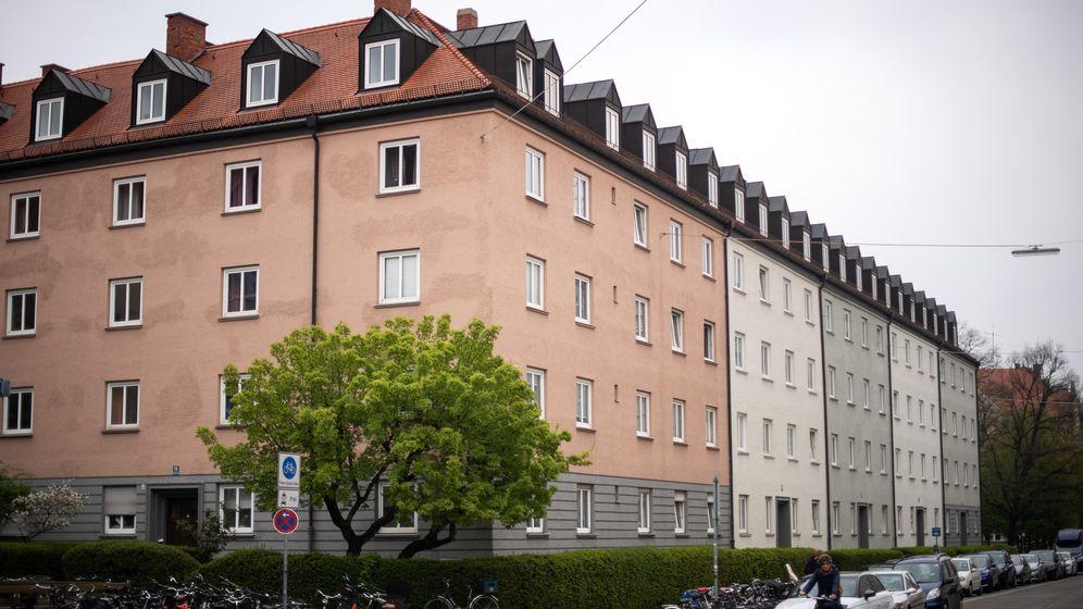 Die betroffene Wohnanlage in München-Schwabing. | Bild:picture alliance/Sina Schuldt/dpa