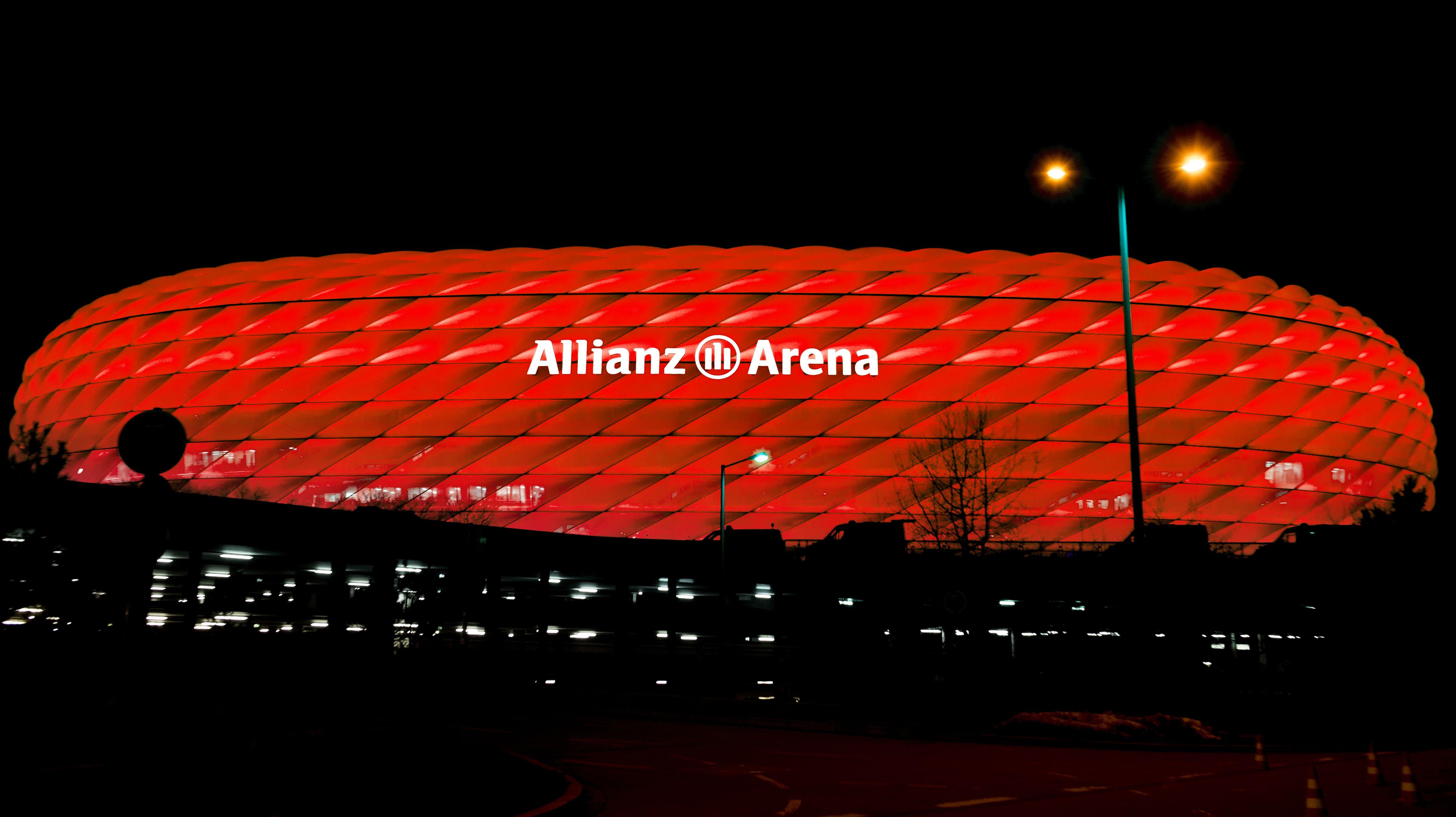 Die Allianz-Arena in München (Symbolbild)