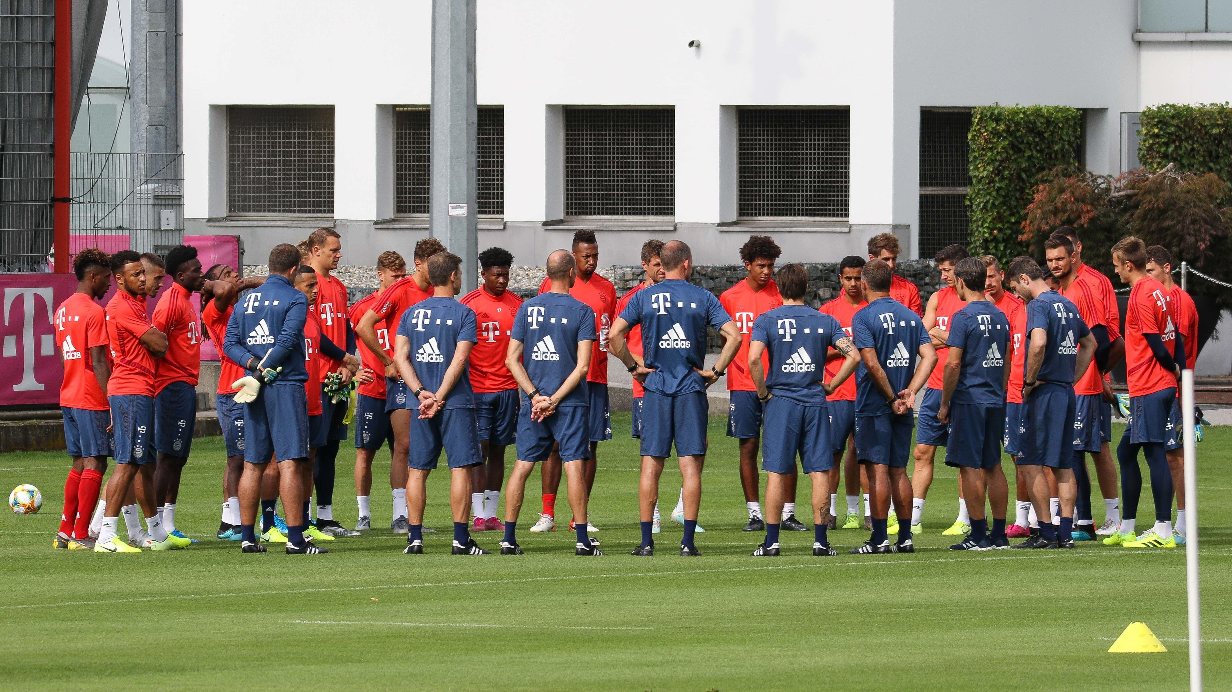 FC-Bayern-Mannschaft beim Training in München am Sonntag (28.07.19)