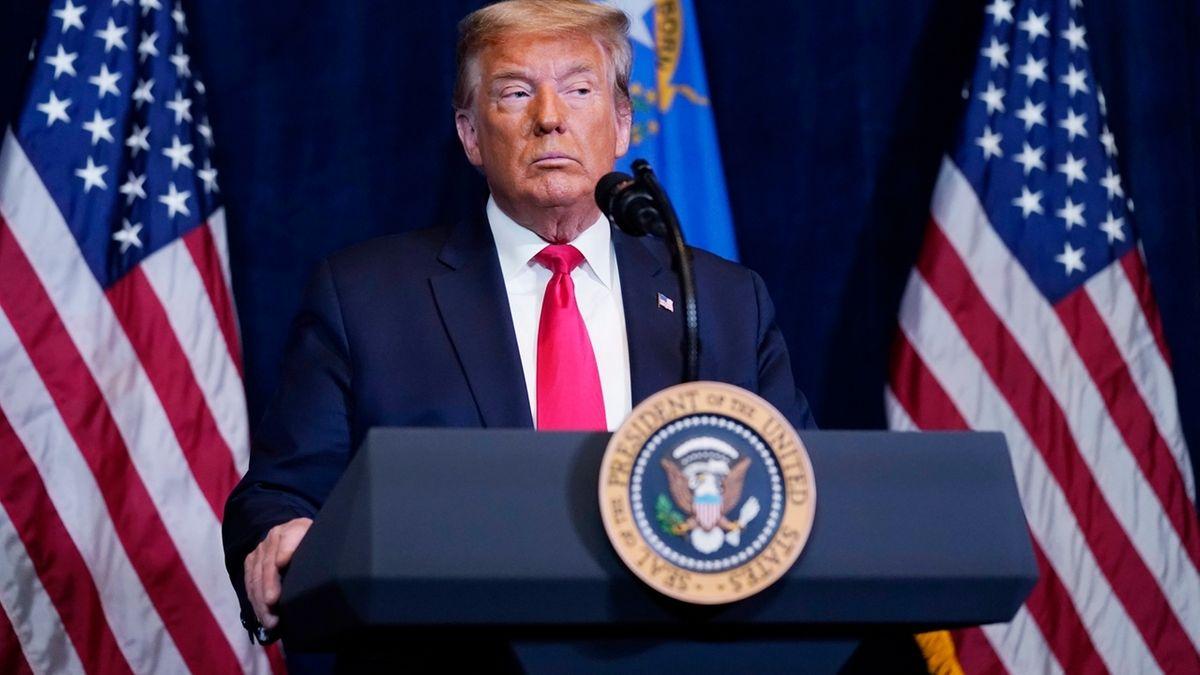 Trump verurteilt Krawalle am Kapitol und ruft zu Versöhnung auf.