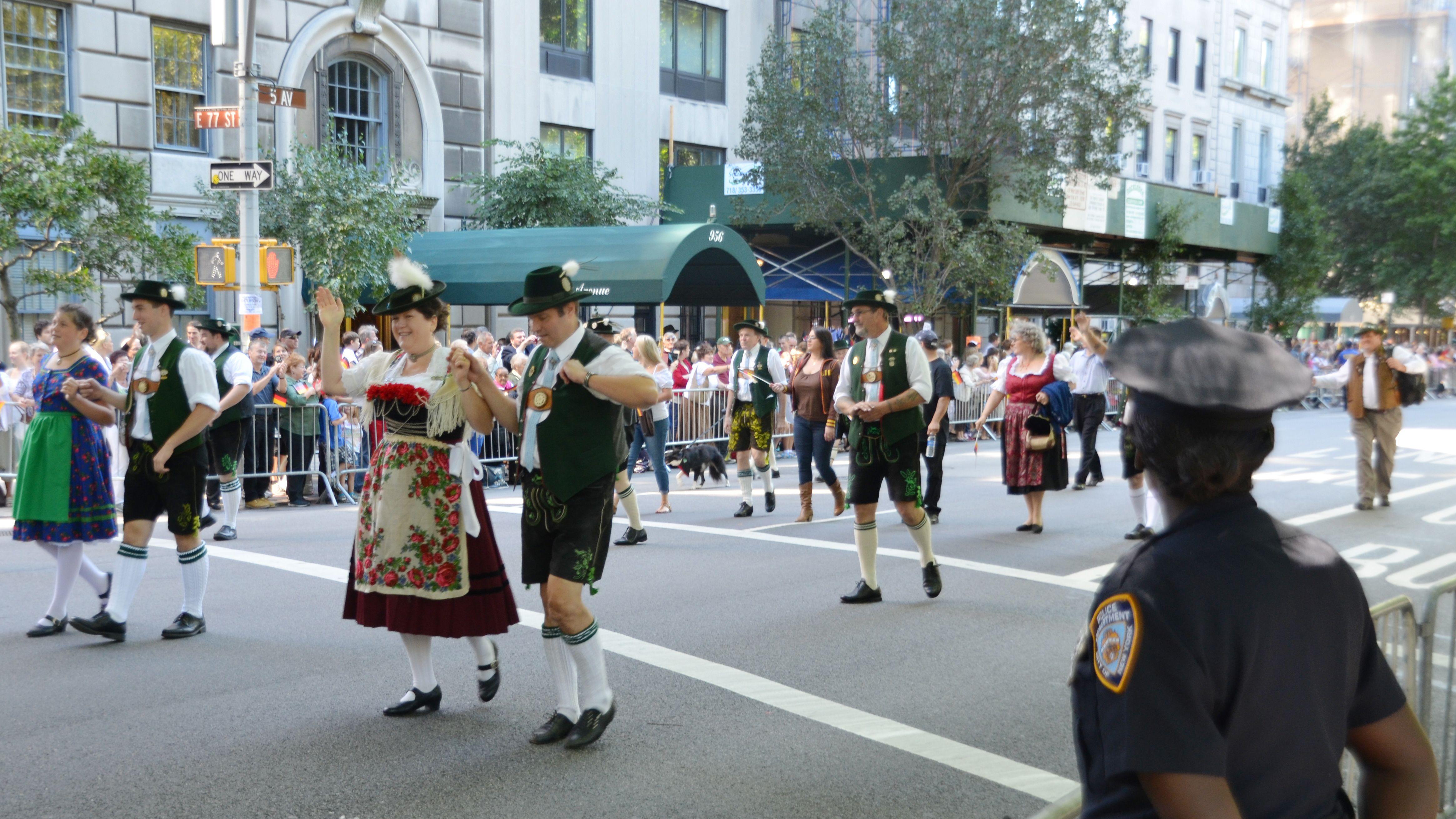 Traditionelle Steubenparade in der 5th Avenue in New York