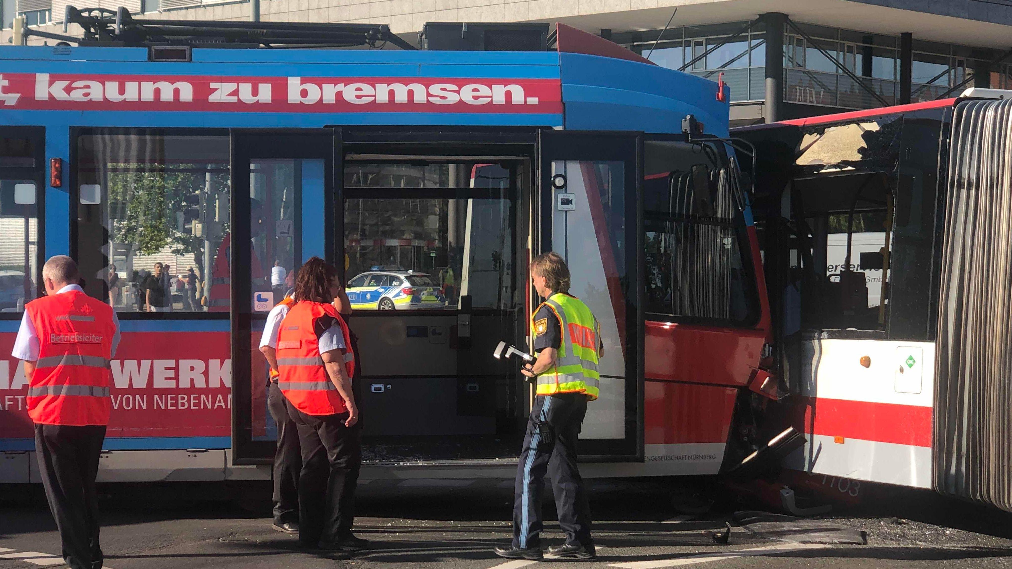 Straßenbahnunfall in Nürnberg
