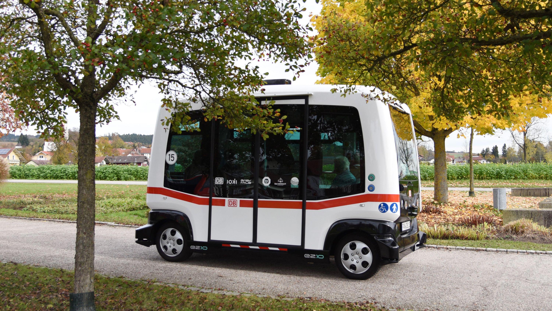 Der Autonome Elektrobus in Bad Birnbach - heute wird eine neue Strecke eingeführt